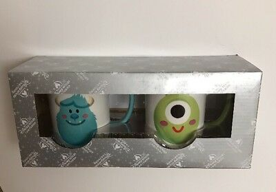 Disney Parks Monsters Inc Sully & Mike So Big  So Little So Cute Coffee Mugs 8oz