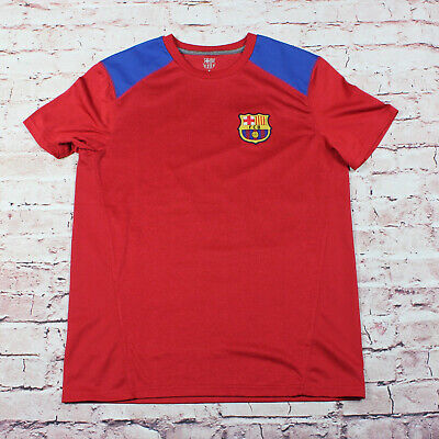 1a298516137 Men's FCB Barcelona Soccer Jersey Red & Blue Size Medium Mens Athletic Shirt