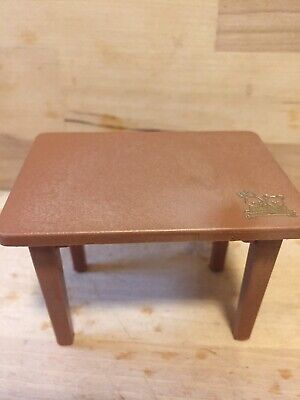 1986 Bandai Maple Town Story Brown Plastic Doll Furniture Table