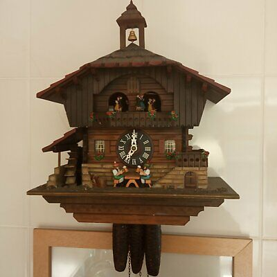 Cuckoo Clock Black Forest House - Musique Movement Dancing - Made In Germany