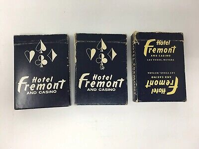 Vintage Hotel Fremont Casino Playing Cards Las Vegas Lot of 3