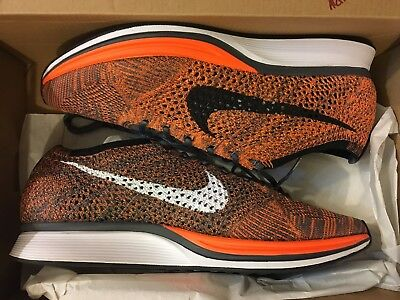 timeless design dd7c7 a6b19 New Nike Air Flyknit Racer Total Orange Running Shoe 526628-810 Men Size  11.5