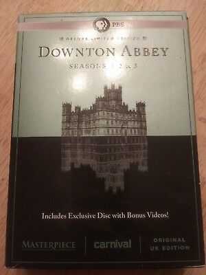 Downton Abbey DVD Seasons 1, 2 & 3 Deluxe Limited Edition 10 Disc Set  Used