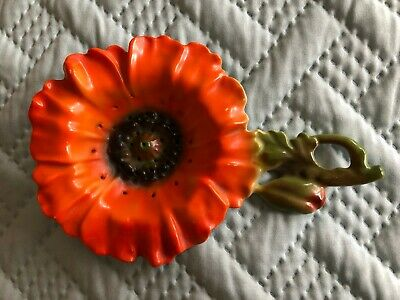 Royal Bayreuth Orange Poppy Flower Tea Strainer Excellent Condition