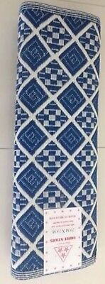 2.8mX2.8m Recycled Plastic Rug Floor Mat Camping Picnic  Outdoor New Woven Blue