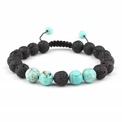 Chakra Bracelet Healing Lava Stone Natural Bead Oil Diffuser Aromatherapy WL