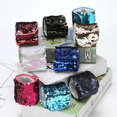 Mermaid Dream Bracelet Colour Changing Sequins Wrist Band Bangle Fashion Cuff WL