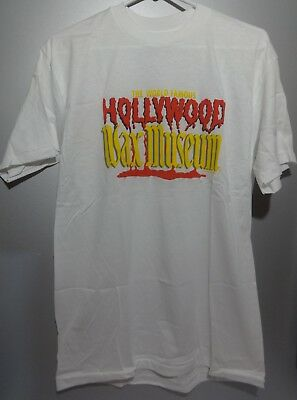 hollywood wax museum shirt t-shirt vintage NOS Large