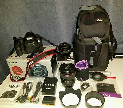Canon EOS 5D Mark III 22.3MP SLR Camera - Mint Condition - 50mm and 24mm Lenses