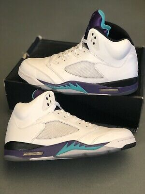 best service 514fa 5e129 Nike Air Jordan Retro V 5 Grape Size 13 - 2013 Release Used 136027-108