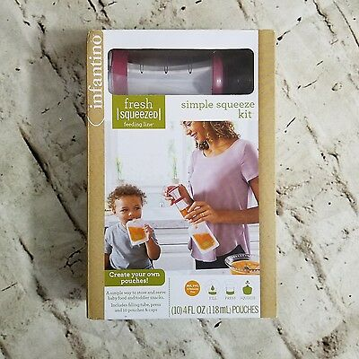 Infantino Simple Squeeze Kit Purees Fresh Squeezed Feeding Line Pouches