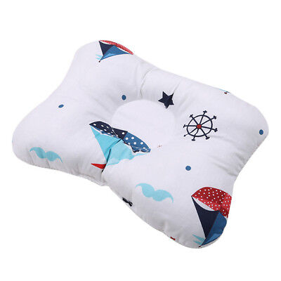 Baby Infant Newborn Anti Roll Support Prevent Flat Head Neck Foam Pillow WL