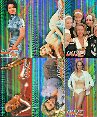 James Bond Women Of Widescreen Early Encounters Complete Chase Card Set (6) NM