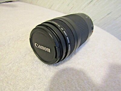 Canon Zoom Lens 75-300mm EF 1:4-5.6 II / USED / EXCELLENT CONDITIONS /