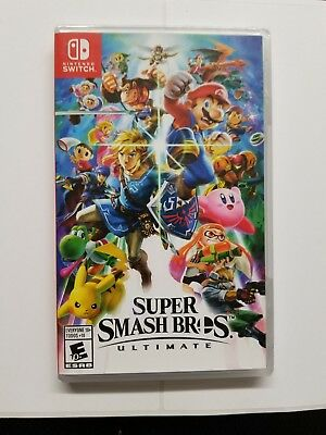 Super Smash Bros ultimate nintendo switch brand new free shipping