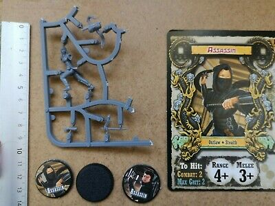 Assassin Miniature /cards/tokens Shadows Of Brimstone Forbidden Fortress G206