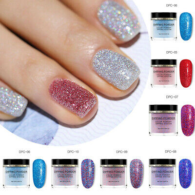Women Nail Art Dipping Powder Glitter Liquid DIY Finger Nails Manicure Decor