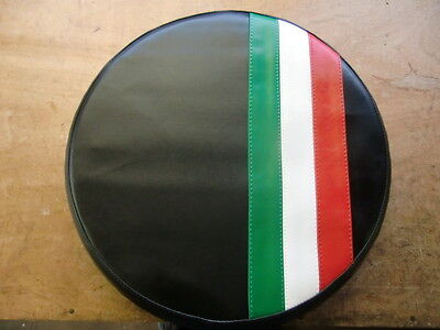 Italian Stripe Black Vespa/Lambretta Scooter Wheel Cover