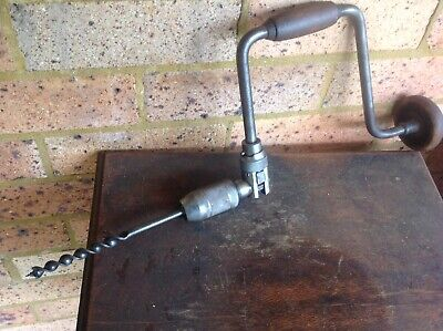 "Vintage 14"" Brace Drill With Bit. Nice Collectible Old Tool"