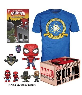 MARVEL COFFRET COLLECTOR CORPS BOX SPIDER-MAN HOMECOMING - T-shirt M - Funko Pop