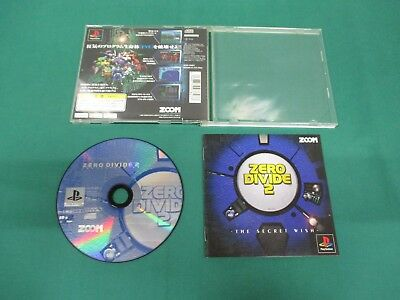 PlayStation -- ZERO DIVIDE 2  -- PS1. JAPAN. GAME. work. 18331
