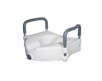 """Drive Toilet Seat Riser with Removable Arms - Standard Toilets, 5"""" Height"""