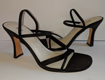 a0c322f054f NORDSTROM NEW BLACK Strappy Ankle Strap Dress Heels/Sandals Shoes Womens  Size 8N