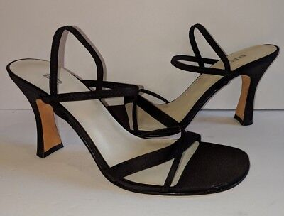 4aff5f47899 NORDSTROM New Black Strappy Ankle Strap Dress Heels Sandals Shoes Womens  Size 8N