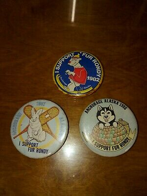 Alaska Fur Rendezvous Rondy Pin Pins Lot 1982, 1987 & 1988