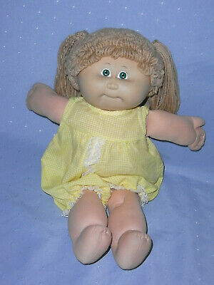 Vintage 1982 Cabbage Patch Girl Doll, Green Eyes, Freckles, Original Outfit