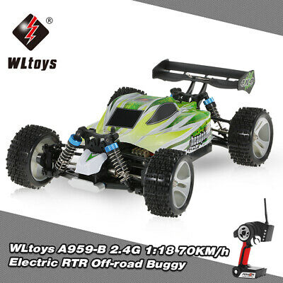 WLtoys A959-B 2.4G 1/18 Scale 4WD 70KM/H Electric Offroad Buggy RC Car RTR C1K9