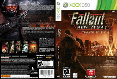 Fallout New Vegas Ultimate Ed Xbox 360 Custom Case & Artwork - NO GAME INCLUDED
