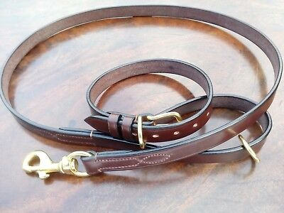 """Best English Bridle Leather Bespoke 3/4""""  wide Dog Collar & Matching Lead"""