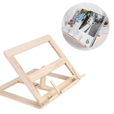 Wooden Book Stand Adjustable Cook Book Display Stand Folding Ipad Tablet Holder
