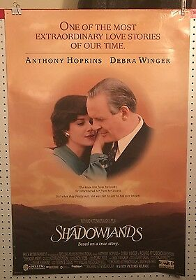 Original Movie Poster For Shadowlands Double Sided 27x40