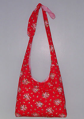 NEW CATH KIDSTON fabric SPRIG RED hand SHOULDER hobo SHOPPING BAG NEW