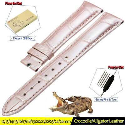 Amicable 16 18 20 22 24mm Genuine Leather Embossed Replace Wrist Watch Band Strap Unisex Jewelry & Watches Watches, Parts & Accessories
