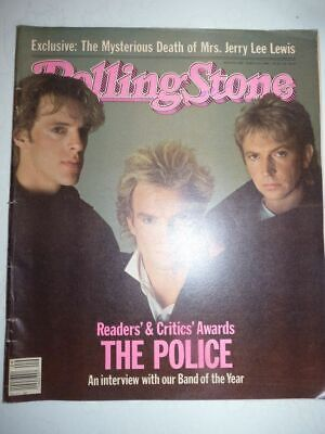 ROLLING STONE MAGAZINE US #416 march 1 1984 The Police