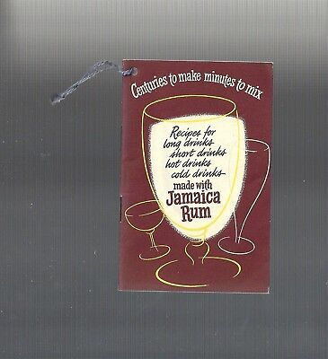 RARE Collectible ART DECO 1934: Recipes made with JAMAICA RUM Cocktail Booklet