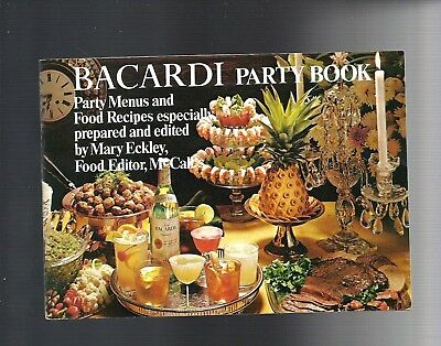 1969 BACARDI RUM Party Booklet Cocktail & Food Recipes