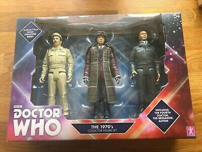 Doctor Who 4th Doctor Figure Set (Doctor, Brigadier and Auton)