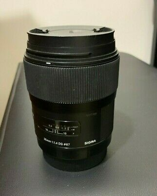 Sigma 35mm f/1.4 DG HSM Art Lens for Canon, lens cap, hardly used