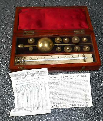 Vintage Sikes' Hydrometer by W. R. Loftus Ltd London evtl. um 1850