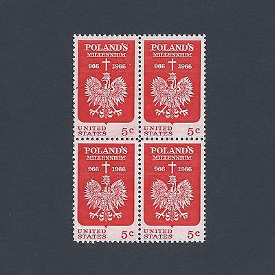 Poland's 1000th Year of Christianity - Vintage Mint Set of 4 Stamps 53 Years Old