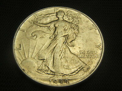 1944 Walking Liberty Half Dollar 90% silver US Type AU mint luster