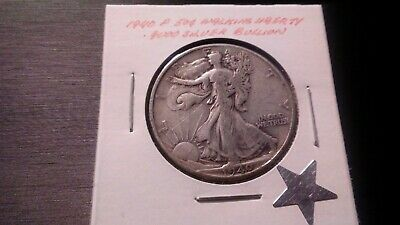 1940P 50c Silver Walking Liberty Half Dollar