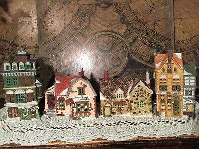 Dept 56 Dickens Village Serie SET OF 4 Series # 5902-1, 5587-5, 5924-2 and 65188