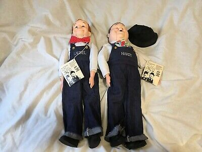 ventriloquist dummy puppets,  , Laurel And Hardy , By Goldberger, Read Describe