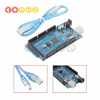ATmega2560-16AU CH340G MEGA 2560 R3 Board With USB Cable For Arduino NEW