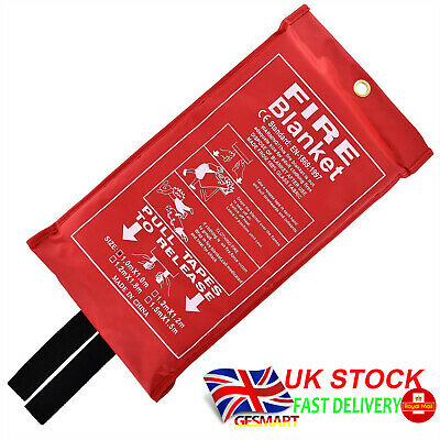 1m x 1m Safety Fire Blanket Large In Pack Kitchen Quick Release Protection Home
